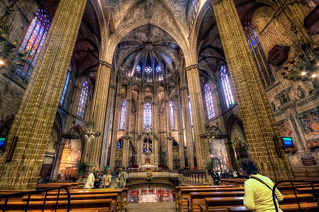 Cathedral of Santa Eulalia – Catedral de Santa Eulalia, Barcelona (Spain), HDR