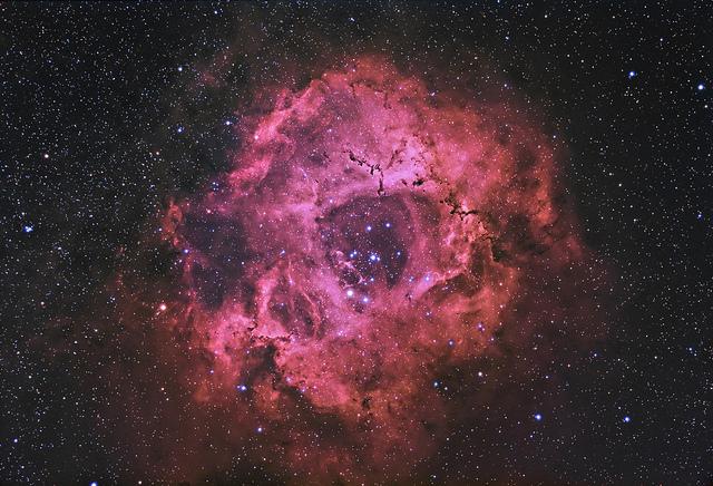 Rosette nebula reprocessed